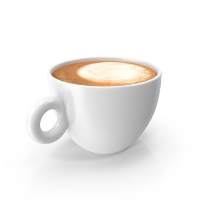 Cup White With Cappuccino