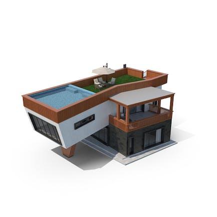 Modernes Haus Mit Dachbecken
