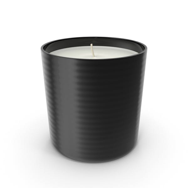Single Wick Scented Candle Black