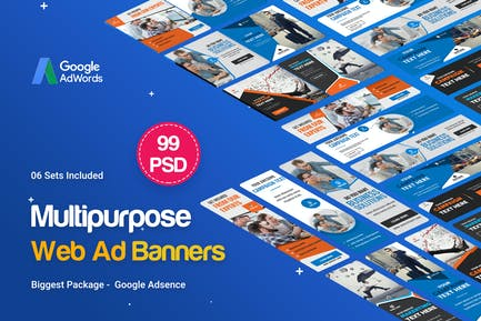 Multipurpose Banners Ad - 99 PSD [ 06 Sets ]