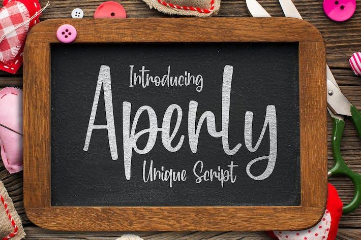 Thumbnail for Aperly - Unique Script Font