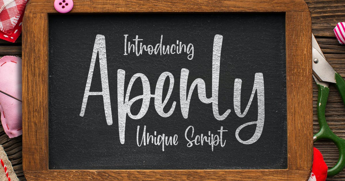Download Aperly - Unique Script Font by Blankids