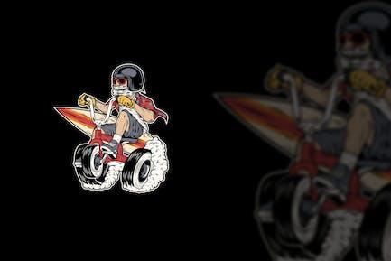 Fun Bike Mascot Design
