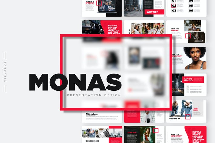 Thumbnail for Monas Powerpoint Template