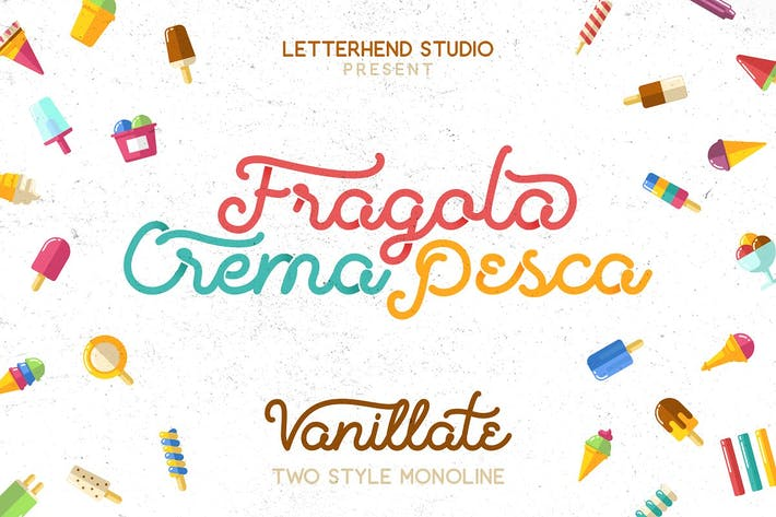 Thumbnail for Vanilatte Font Duo