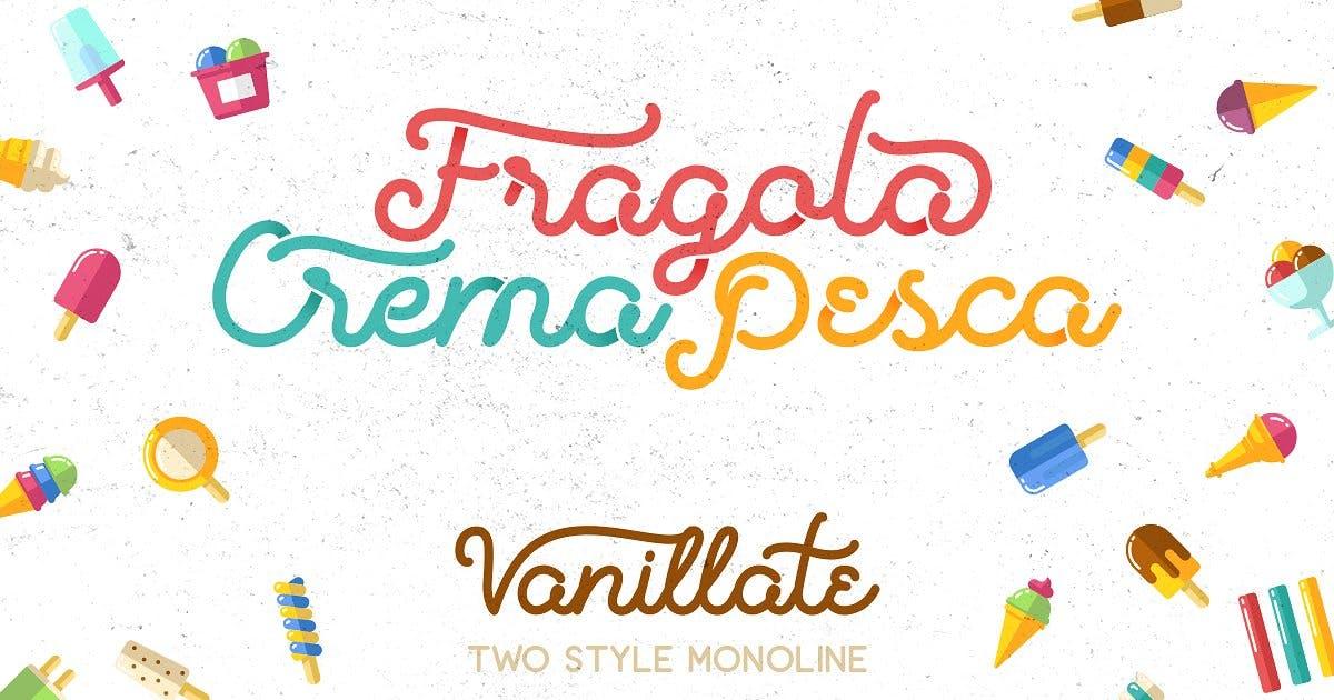 Download Vanilatte Font Duo by letterhend