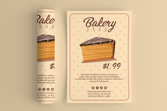 Thumbnail for Bakery Food Flyer