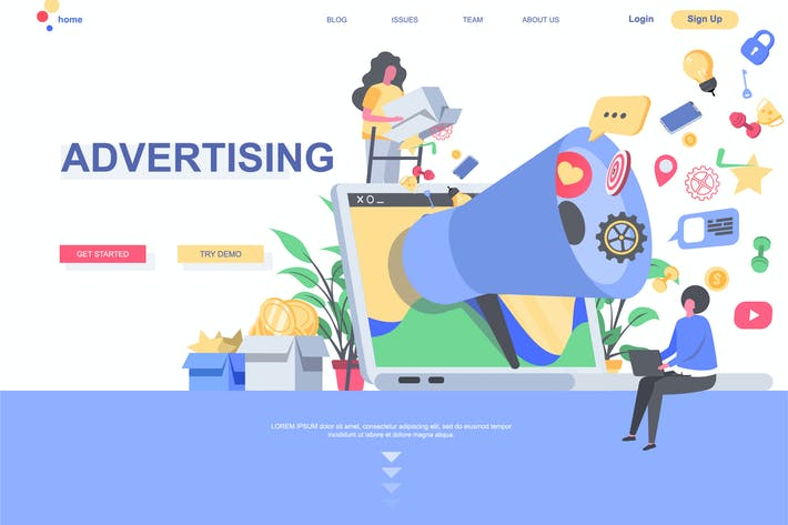Thumbnail for Advertising Landing Page Template