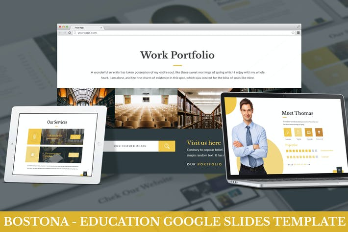 Thumbnail for Bostona - Education Google Slides Template
