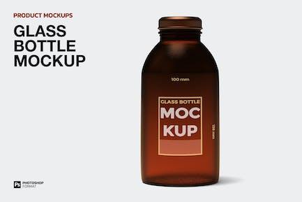 Glasflasche - Mockup