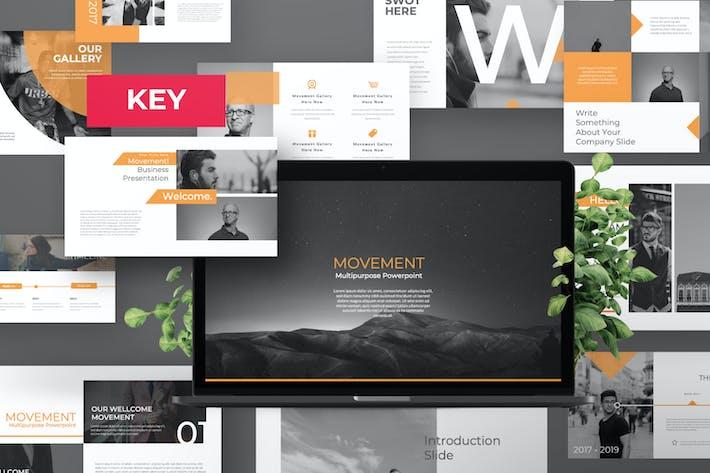 Thumbnail for Движение Pitch колода Творческий Шаблон Keynote