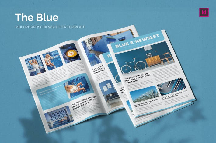 Thumbnail for The Blue - Newsletter Template