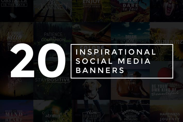 Thumbnail for 20 Inspirational Social Media Banners