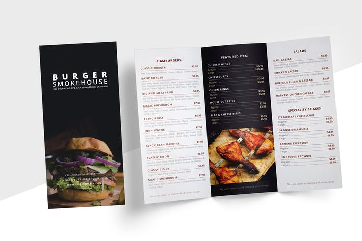 restaurant menu trifold by micromove on envato elements