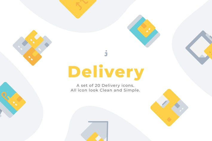 Thumbnail for 20 Delivery icons - Flat