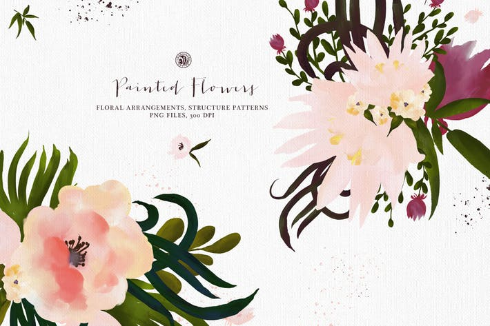 Cover Image For Painted Flowers