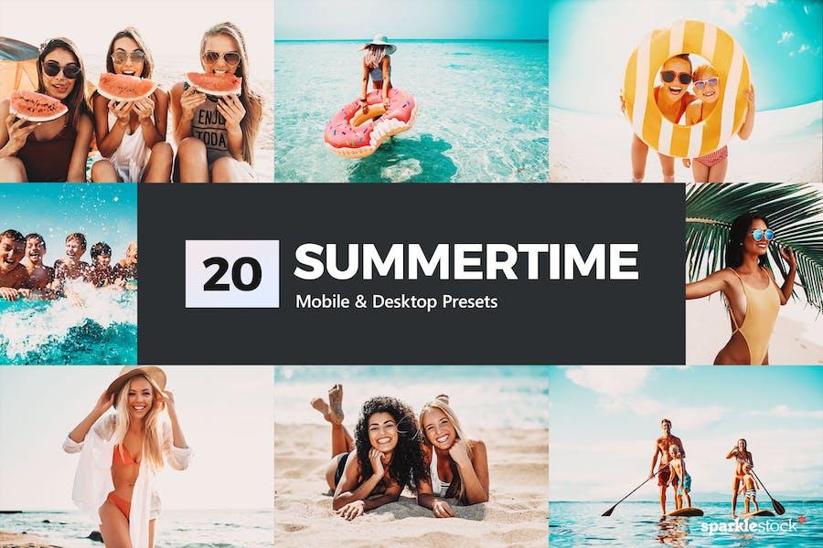 20 Summertime Lightroom Presets and LUTs