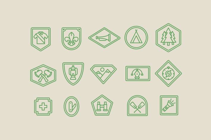 Thumbnail for 15 Scout Badge Icons