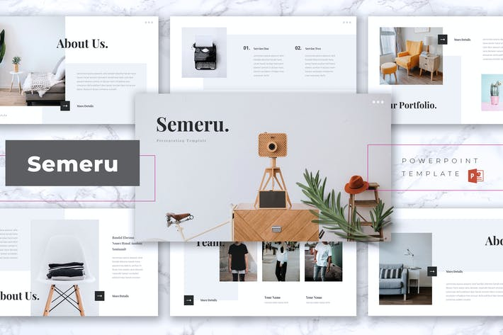 Thumbnail for SEMERU - Creative Powerpoint Template
