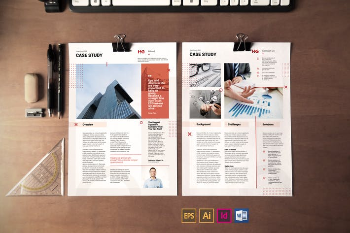 Thumbnail for Case Study Template Vol.6