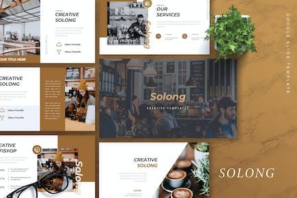 SOLONG - Кофейня Google Слайды Шаблон