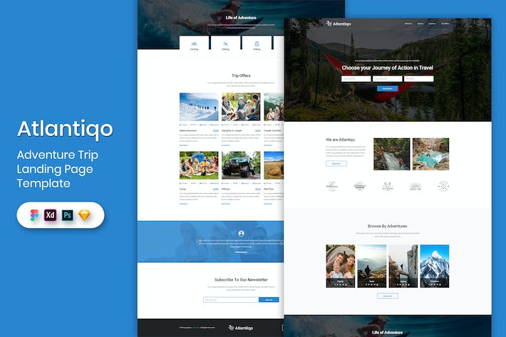 Thumbnail for Adventure Trip - Landing Page Template