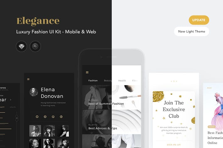 Thumbnail for Elegance Luxus Fashion UI Kit
