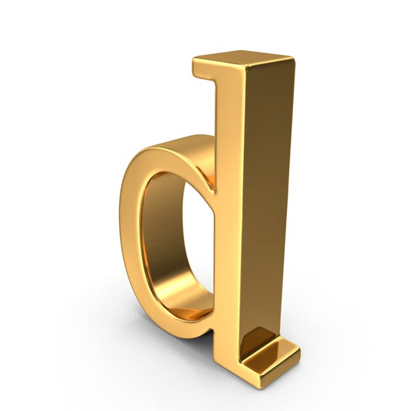 Thumbnail for Gold Small Letter D
