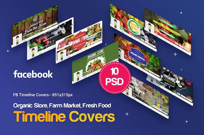 Thumbnail for Organic Store, Farm Market, Fresh Food FB Covers