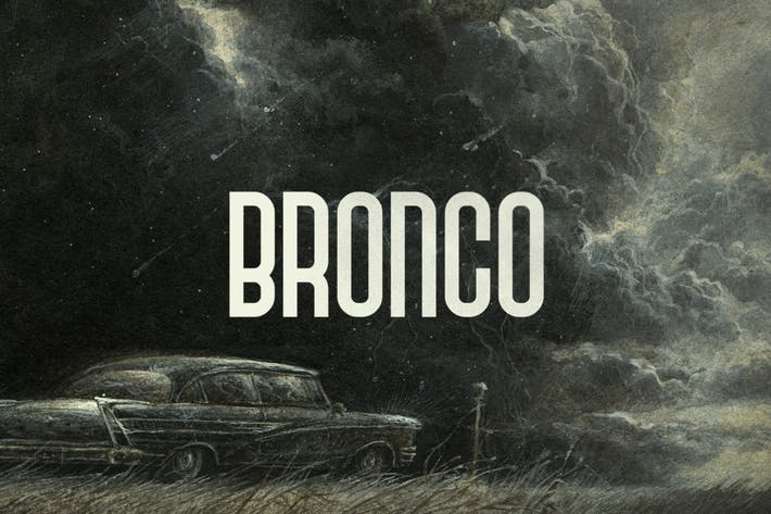 Thumbnail for Bronco Typeface