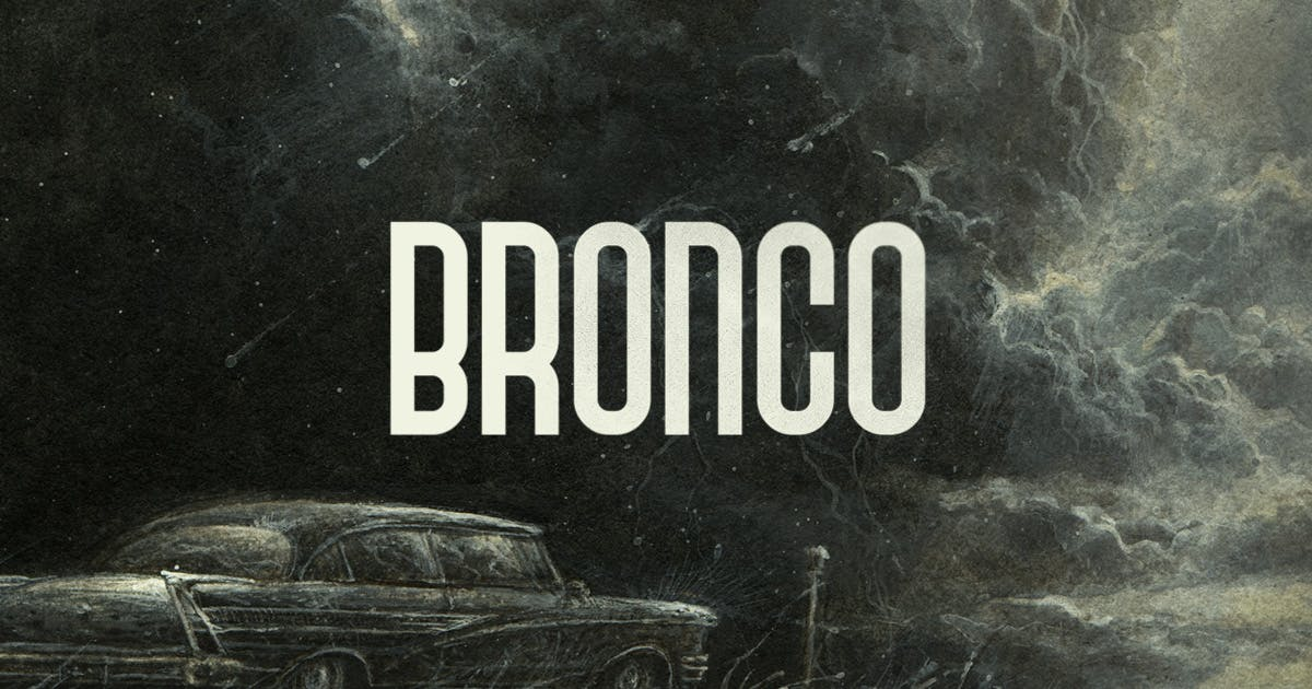 Download Bronco Typeface by MehmetRehaTugcu
