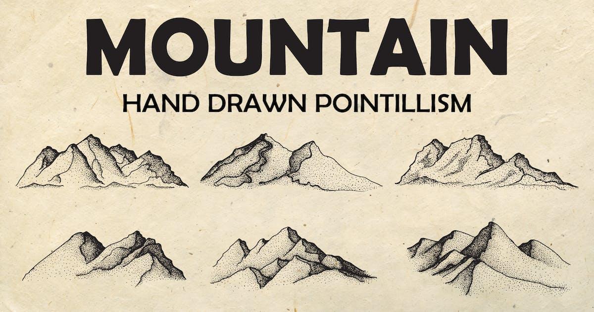 Download Mountain - Hand drawn Pointillism by AfandiAB