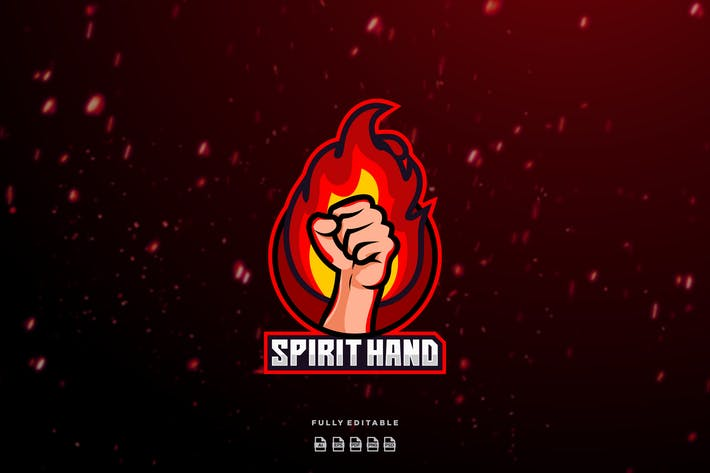 Thumbnail for Hand Spirit - Mascot & Esport Logo