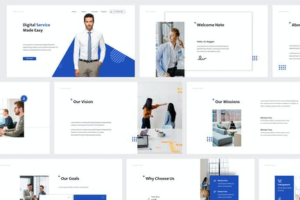 Advanced Business Powerpoint Template