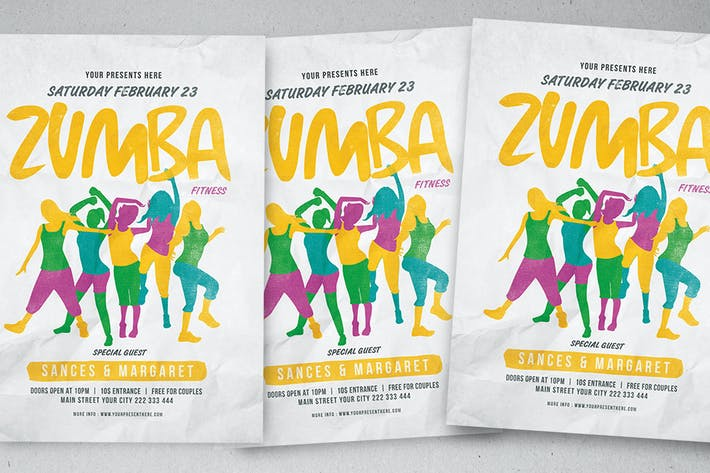 Download 19 zumba graphic templates envato elements thumbnail for zumba party flyer toneelgroepblik Gallery