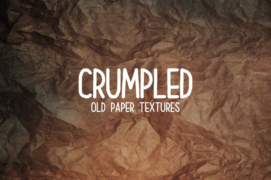 Crumpled Grunge Old Paper Background