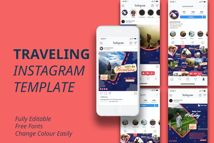 Thumbnail for MS - Travel Instagram Template
