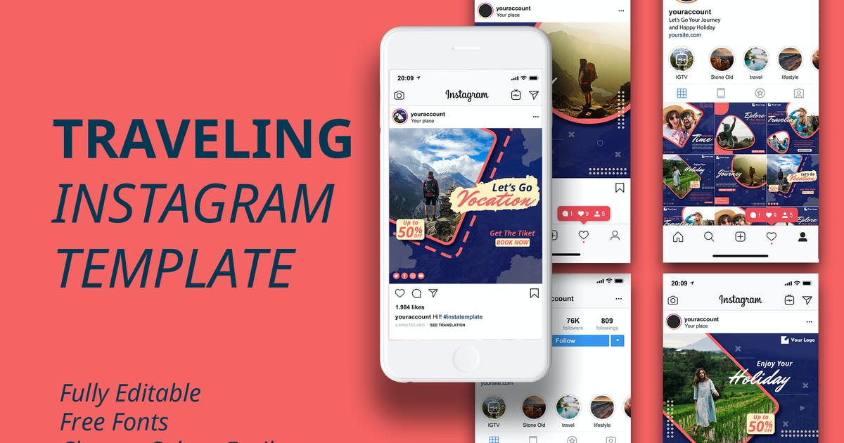 Download MS - Travel Instagram Template by ViactionType