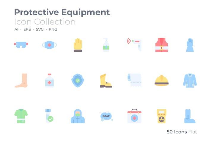 Protective Equipment Color Icon