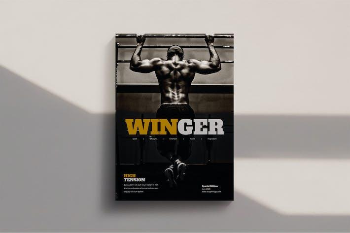 Thumbnail for Winger - Magazine Template