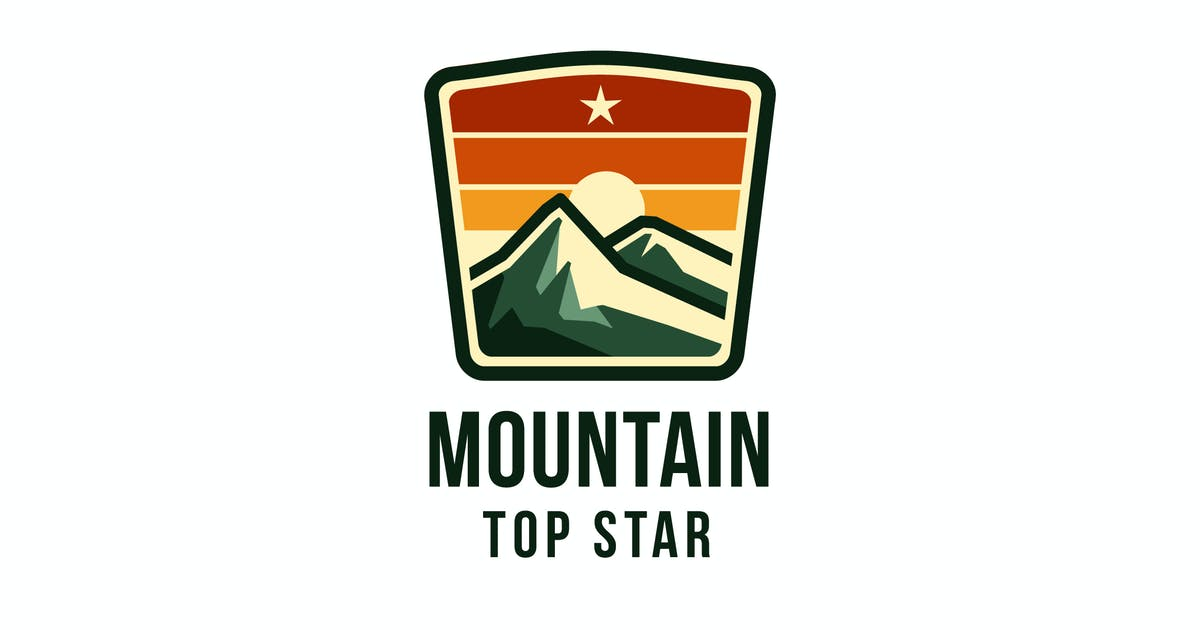 Download Mountain Top Star Logo Template by IanMikraz