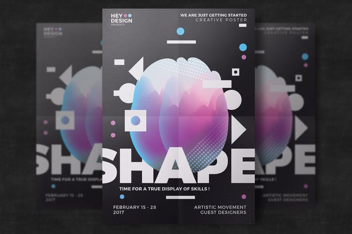 Thumbnail for Creative Abstract Poster Template