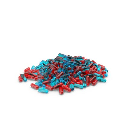 Pile of Red Blue Pills