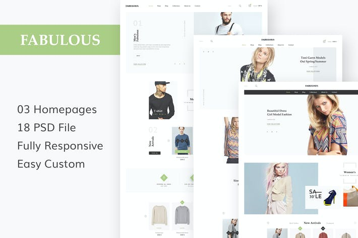 Thumbnail for FABULOUS - eCommerce & Blog PSD Theme