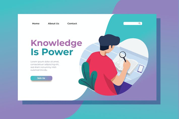 Thumbnail for Knowledge is Power Landing Page Illustration