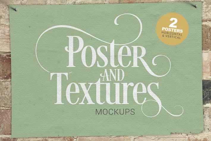 Thumbnail for Poster & Textures Mockups