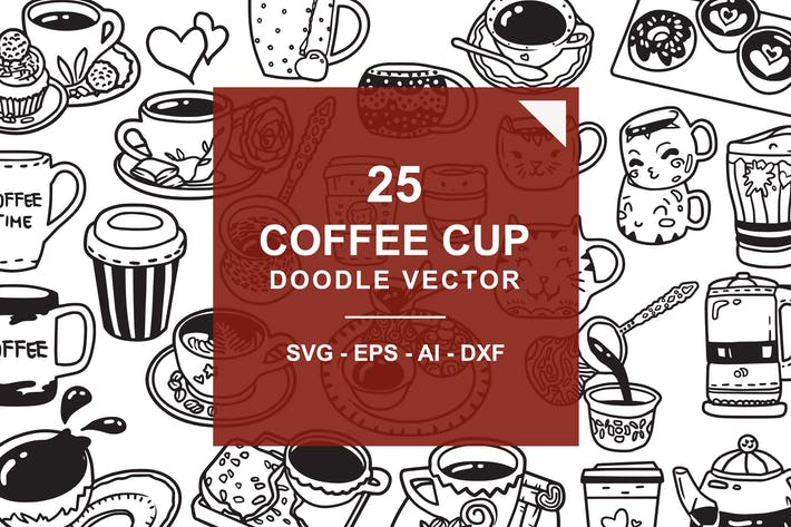 Cover Image For Coffee Doodle Vector