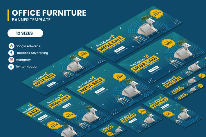 Thumbnail for Office Furniture Google Adwords Banner Template