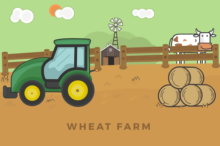 Thumbnail for Wheat Farm Illustration