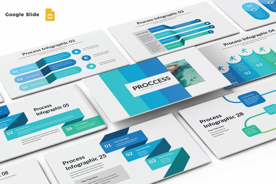 PROCCESS INFOGRAPHIC - Google Slide V608